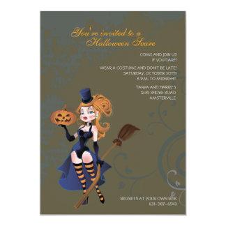 Tricks and Treats Naughty Witch Invitation