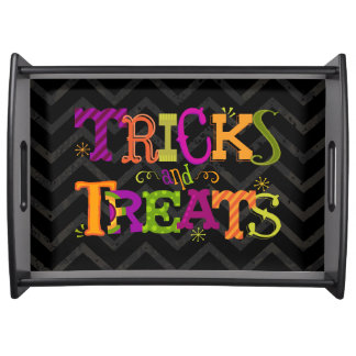 Tricks And Treats Whimsical Halloween Serving Tray