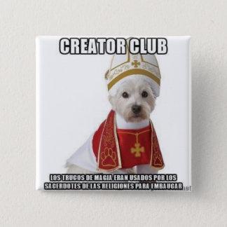 Tricks of magic priests 15 cm square badge