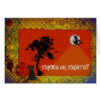 tricks or treats greeting card