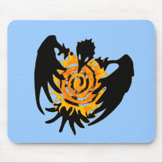 Trickster Raven With Spiral Sun Mouse Pad