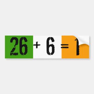 Tricolor 26 + 6 1 bumper sticker