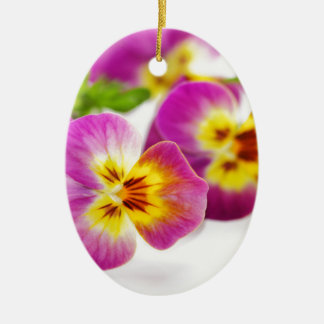 Tricolor | anniversary | flower | Pansy | cute | B Ceramic Ornament
