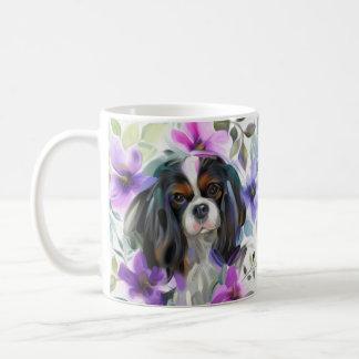 Tricolor Cavalier Art Mug   purple