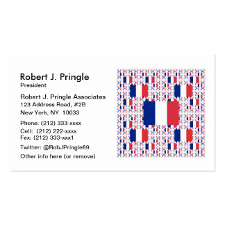 Tricolor France Flag in Multiple Colorful Layers Pack Of Standard Business Cards
