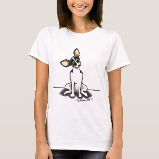 Tricolor Rat Terrier Sit Pretty T-Shirt