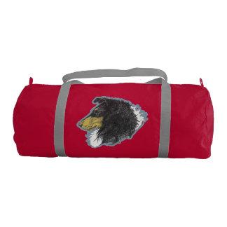 Tricolor Rough Collie Gym Duffel Bag