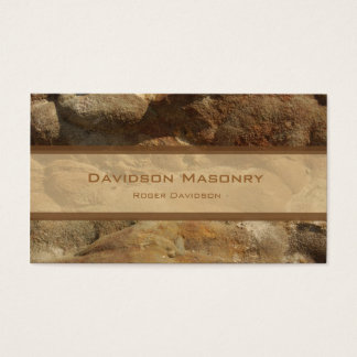 Tricolor Stone Business Card