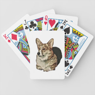 Tricolor Welsh Corgi Sitting Bicycle Playing Cards