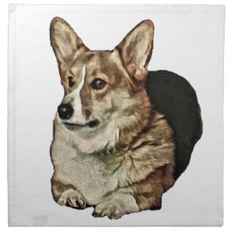 Tricolor Welsh Corgi Sitting Napkin