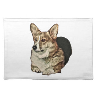 Tricolor Welsh Corgi Sitting Placemat