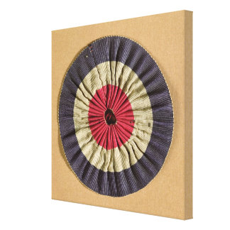 Tricolore rosette stretched canvas print