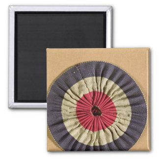 Tricolore rosette square magnet