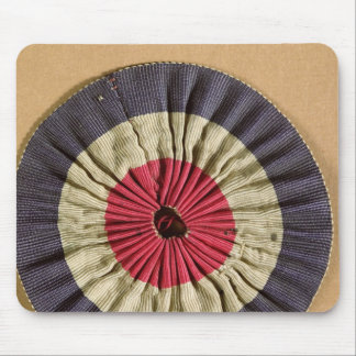 Tricolore rosette mouse pad