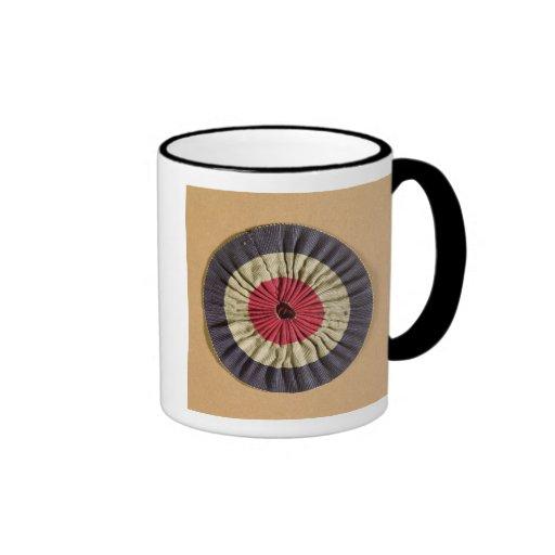 Tricolore rosette coffee mug