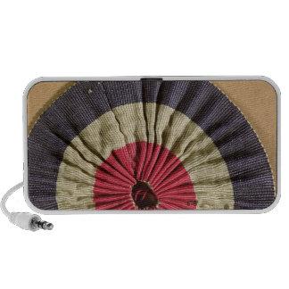 Tricolore rosette notebook speakers