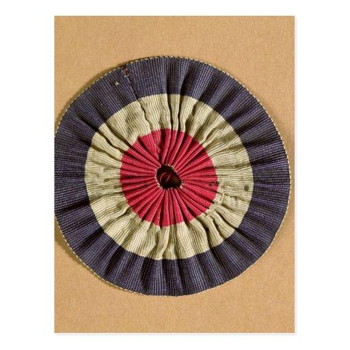 Tricolore rosette postcards