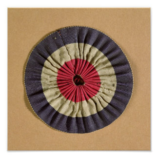 Tricolore rosette print