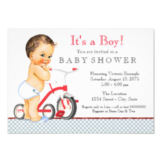 Tricycle Baby Shower Card