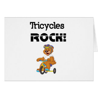 Tricycles Rock! Card