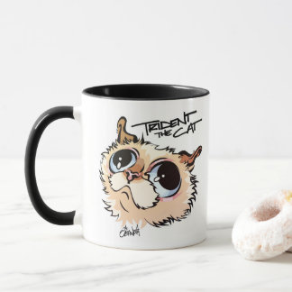 Trident the Cat Illustrated Coffee Mug 02