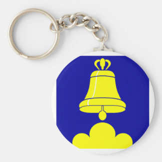 Triesenberg Armorial Banner Basic Round Button Key Ring