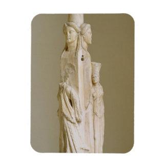 Triform Herm of Hecate, Marble sculpture, Attic pe Rectangular Photo Magnet