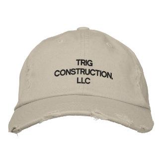 Trig Construction, LLC Hat Embroidered Baseball Caps