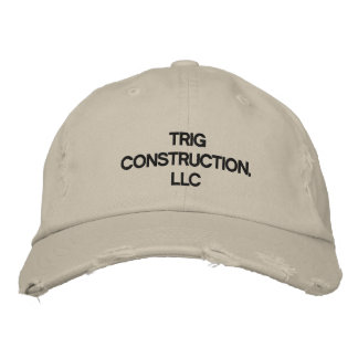 Trig Construction, LLC Hat Embroidered Baseball Caps