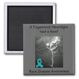 Trigeminal Neuralgia Awareness Square Magnet