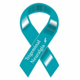Trigeminal Neuralgia Awareness ribbon pin Photo Sculpture Badge