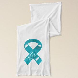 Trigeminal Neuralgia awareness ribbon scarf. Scarf