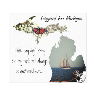 Triggered For Michigan Canvas Art