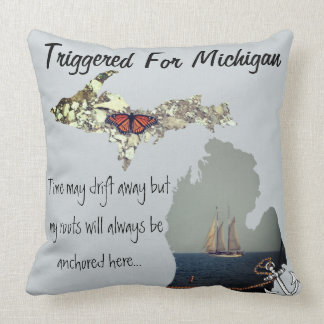Triggered For Michigan Pillow