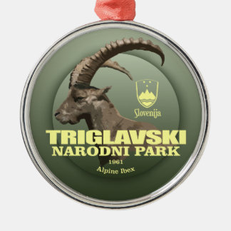 Triglav National Park (Alpine Ibex) WT Metal Ornament