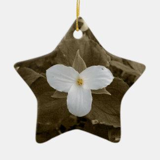 Trillium Ceramic Ornament
