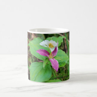 Trillium Flower 11 oz ceramic mug
