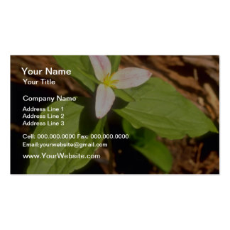 Trillium flowers business card templates