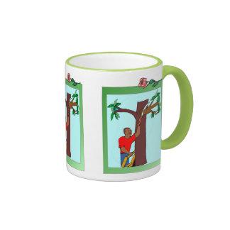 Trimming a branch ringer mug