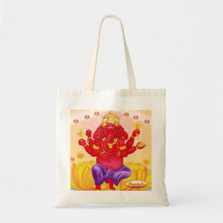 Trimukah Ganesha canvas bag