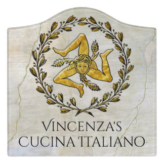 Trinacria Cucina Italiano Kitchen Sign