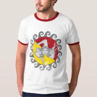 Trinacria Flag Color Version T-Shirt