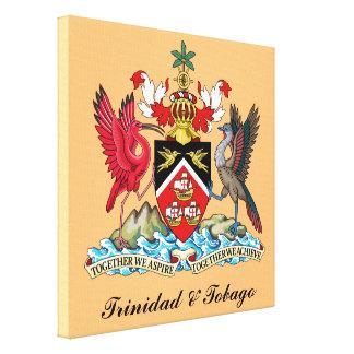Trinidad and Tobago Coat Of Arms Gallery Wrapped Canvas