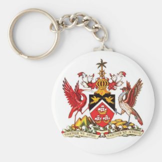 Trinidad and Tobago Coat of Arms Keychain