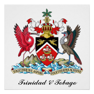 Trinidad and Tobago Coat Of Arms Poster