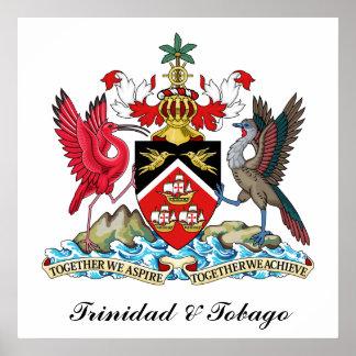 Trinidad and Tobago Coat Of Arms Poster