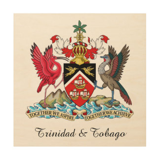 Trinidad and Tobago Coat Of Arms Wood Canvases