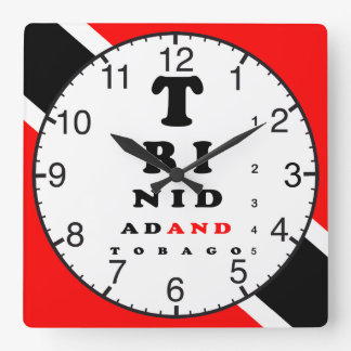 Trinidad And Tobago Eye Chart Square Wall Clock