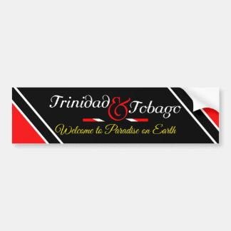 Trinidad and Tobago Flag Bumper Sticker