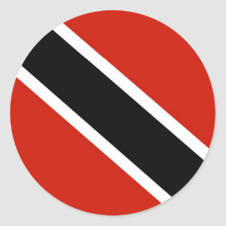 Trinidad and Tobago flag Classic Round Sticker